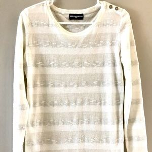 Karl Lagerfeld Lightweight Pullover with Buttons